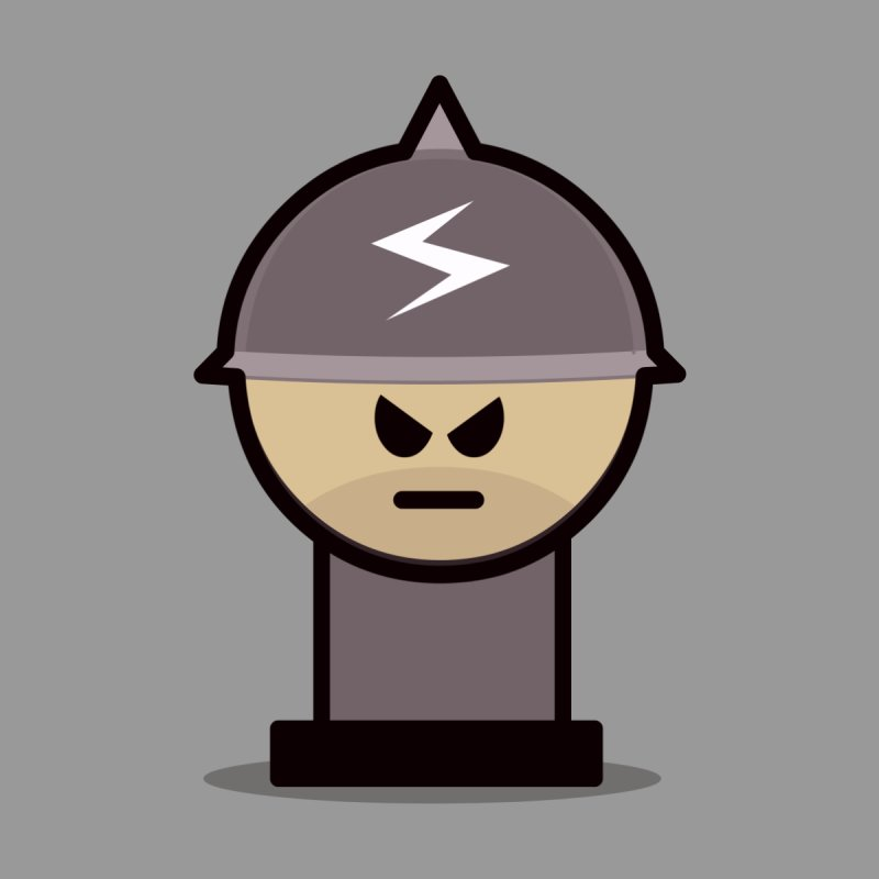Grumpy Soldier None  by Threadless Tshirts Cartoons