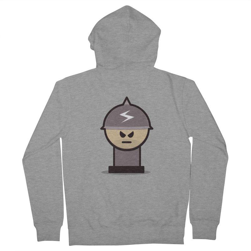 Grumpy Soldier Men's Zip-Up Hoody by Threadless Tshirts Cartoons