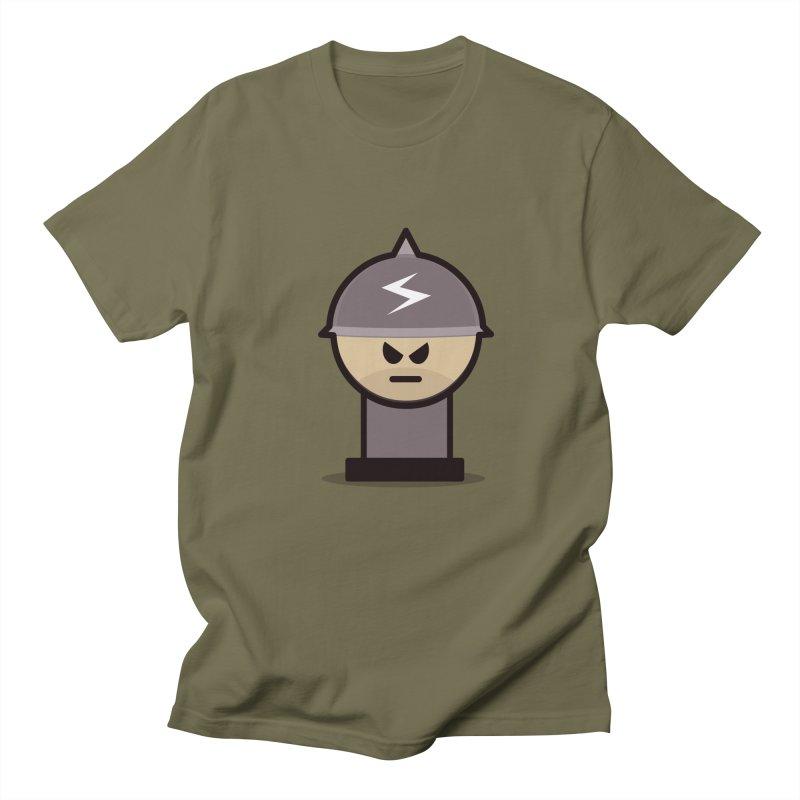 Grumpy Soldier Men's T-shirt by Threadless Tshirts Cartoons