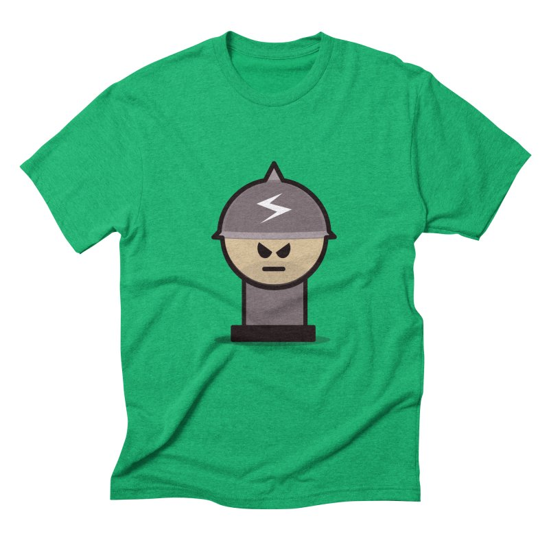 Grumpy Soldier Men's Triblend T-Shirt by Threadless Tshirts Cartoons