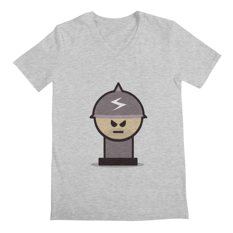 Grumpy Soldier Men's V-Neck by Threadless Tshirts Cartoons