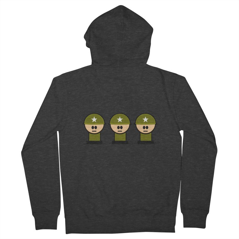 Three Little Soldiers Men's Zip-Up Hoody by Threadless Tshirts Cartoons