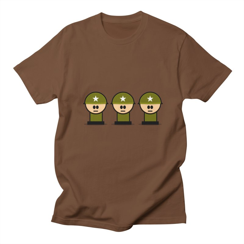Three Little Soldiers Men's T-Shirt by Threadless Tshirts Cartoons