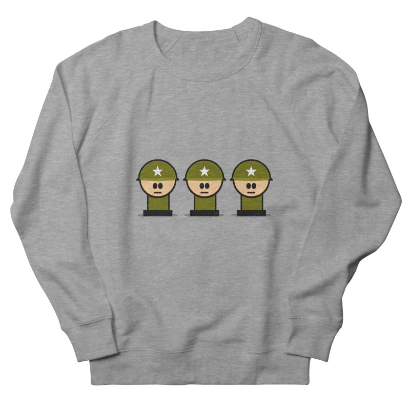 Three Little Soldiers Men's Sweatshirt by Threadless Tshirts Cartoons
