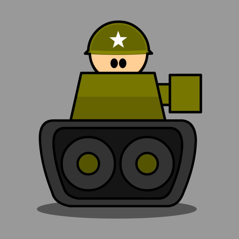 Little Soldier Tank   by Threadless Tshirts Cartoons