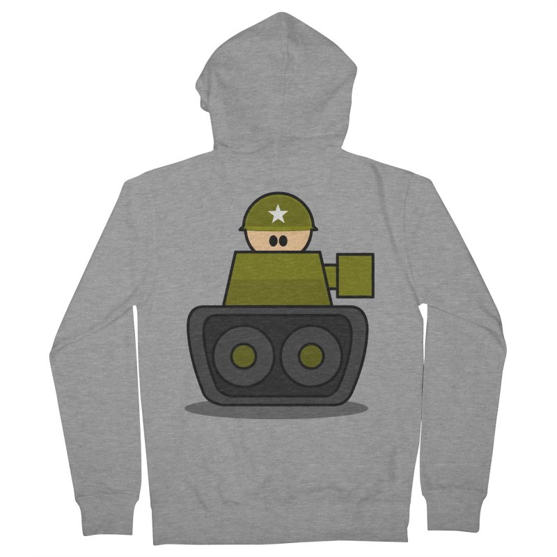 Little Soldier Tank Men's Zip-Up Hoody by Threadless Tshirts Cartoons