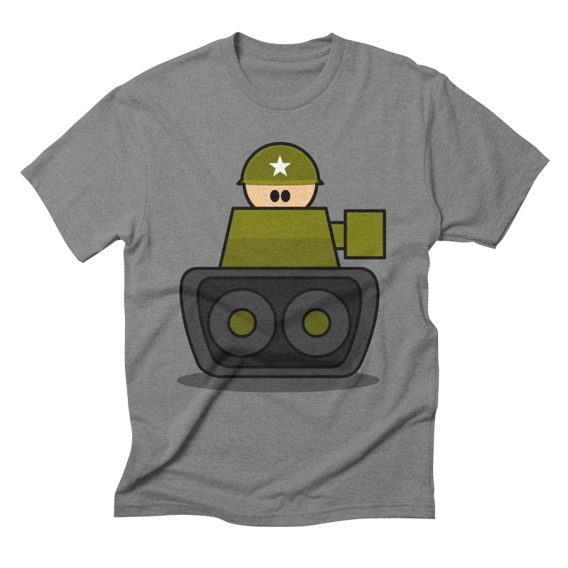 Little Soldier Tank Men's Triblend T-Shirt by Threadless Tshirts Cartoons