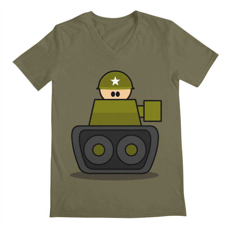 Little Soldier Tank Men's V-Neck by Threadless Tshirts Cartoons