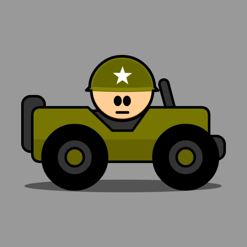 Little Soldier Jeep by Threadless Tshirts Cartoons