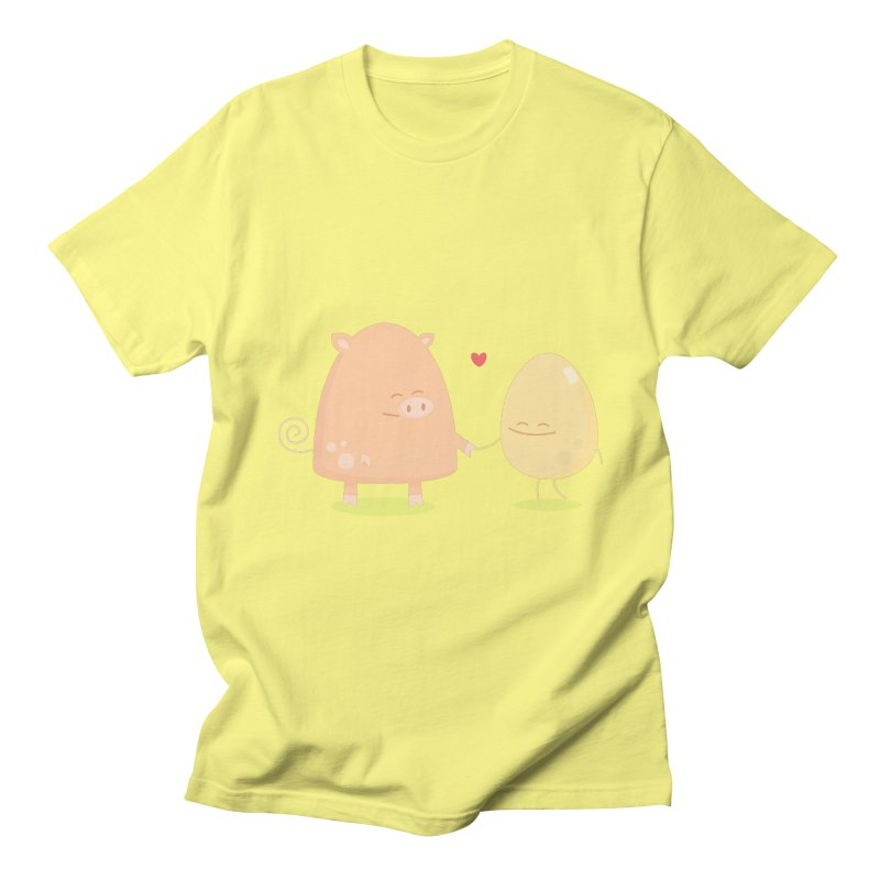 Ham and Eggs Men's T-shirt by Threadless Tshirts Cartoons