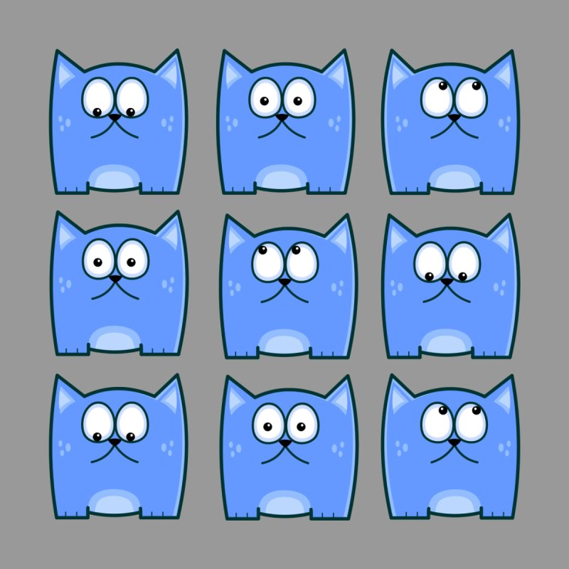 Cat Expressions None  by Threadless Tshirts Cartoons