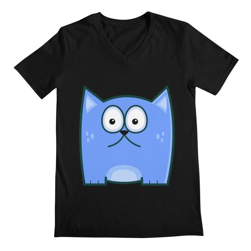 Single Cat Men's V-Neck by Threadless Tshirts Cartoons