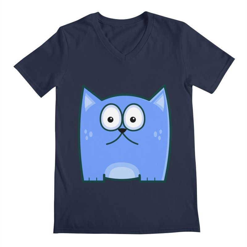 Single Cat Men's V-Neck by Threadless Tshirts Cartoons