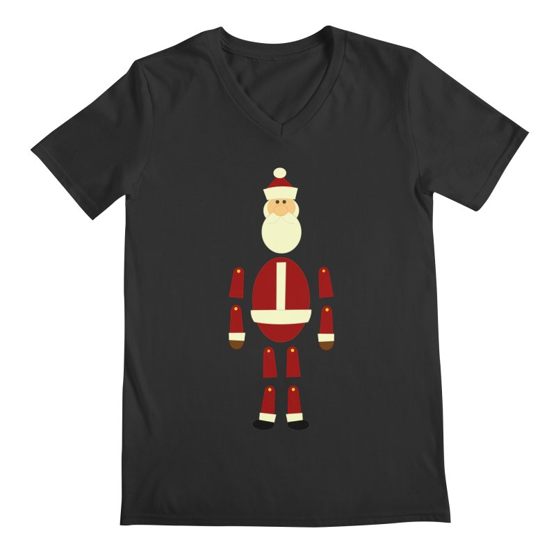 Santa Bits Men's V-Neck by Threadless Tshirts Cartoons