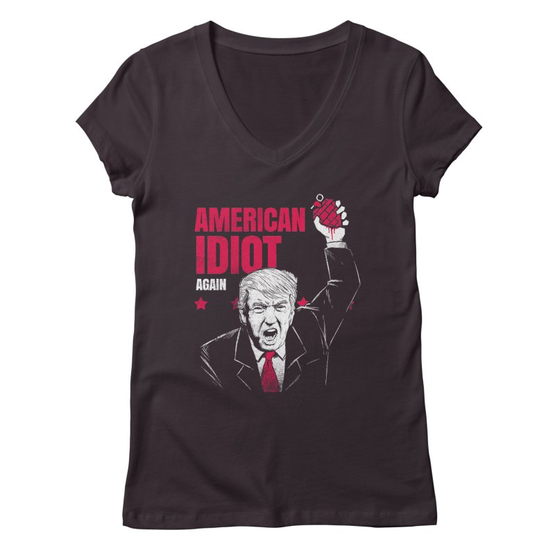 AMERICAN IDIOT Again Women's V-Neck by tales83's Artist Shop