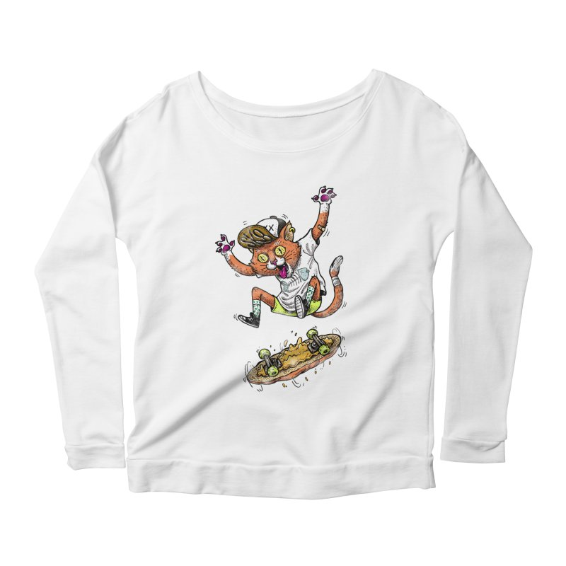 Perfect Skater Women's Longsleeve Scoopneck  by tales83's Artist Shop