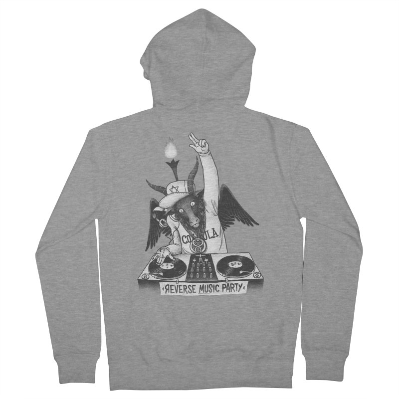 Reverse Music Party Women's Zip-Up Hoody by tales83's Artist Shop