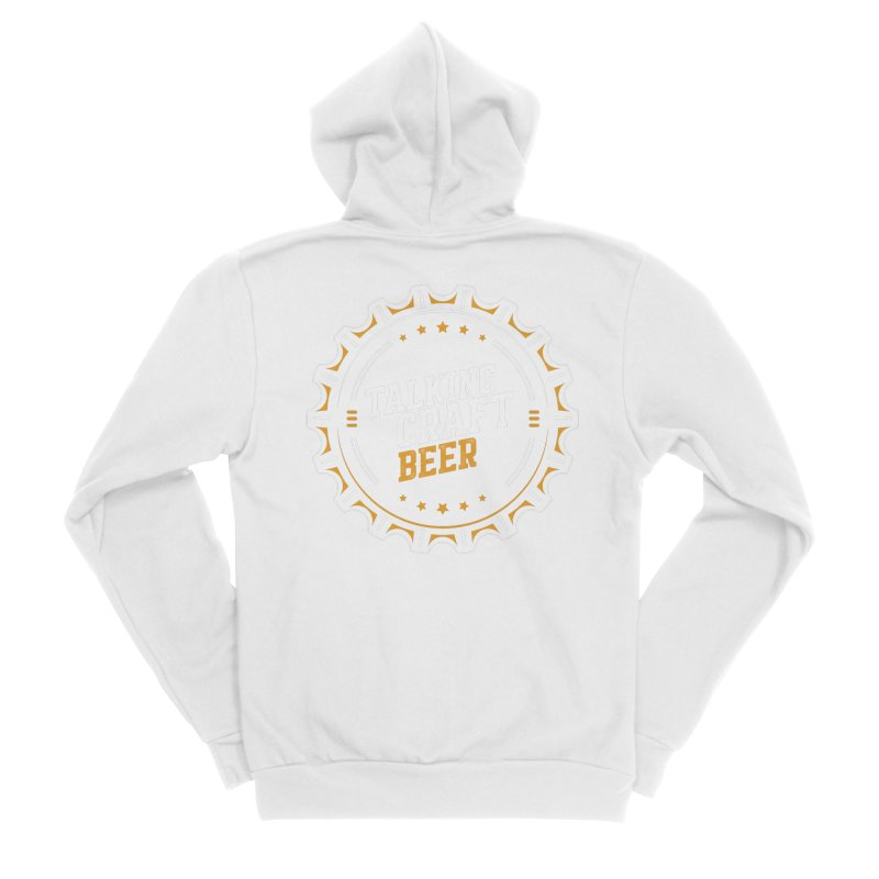 Talking Craft Beer (transparent) Men's Sponge Fleece Zip-Up Hoody by Talking Craft Beer Shop