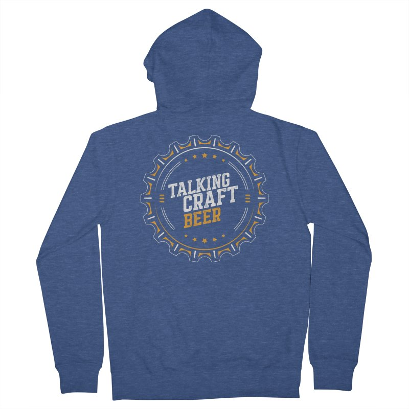 Talking Craft Beer (transparent) Men's French Terry Zip-Up Hoody by Talking Craft Beer Shop