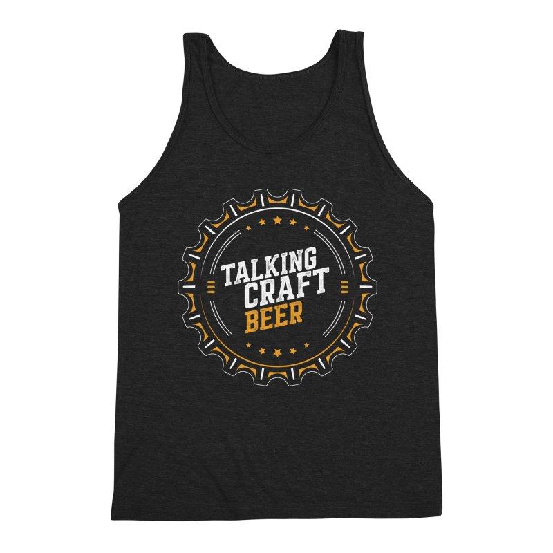 Talking Craft Beer (transparent) Men's Triblend Tank by Talking Craft Beer Shop