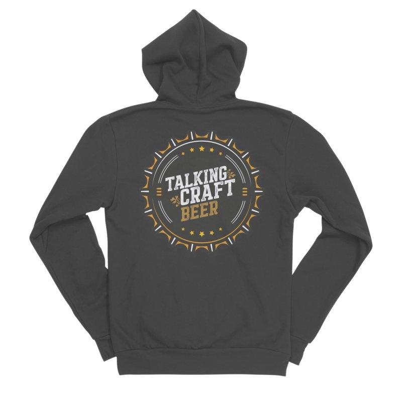Talking Craft Beer Logo Men's Sponge Fleece Zip-Up Hoody by Talking Craft Beer Shop