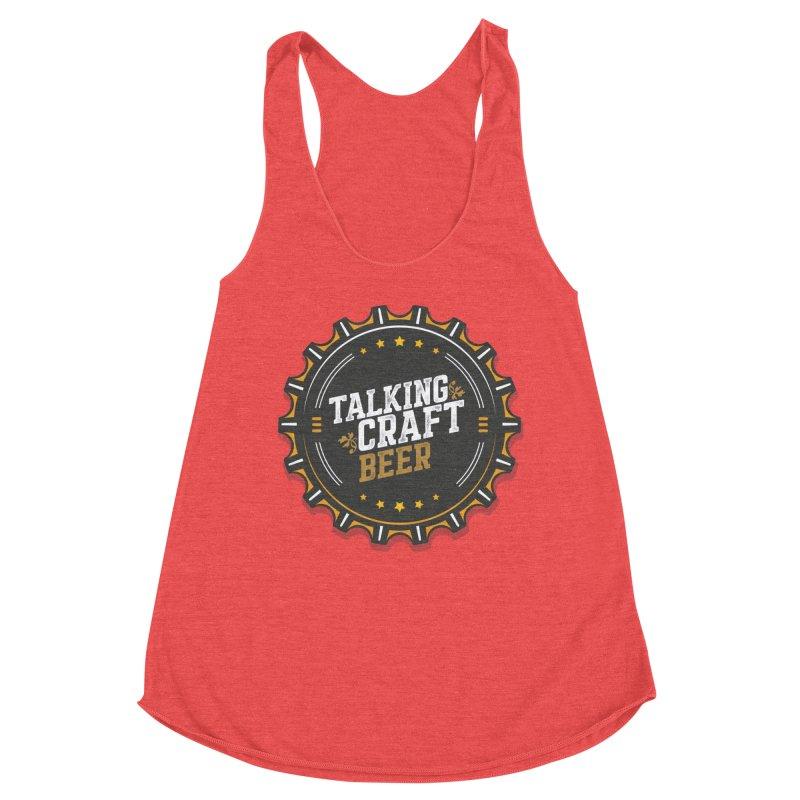 Talking Craft Beer Logo Women's Racerback Triblend Tank by Talking Craft Beer Shop