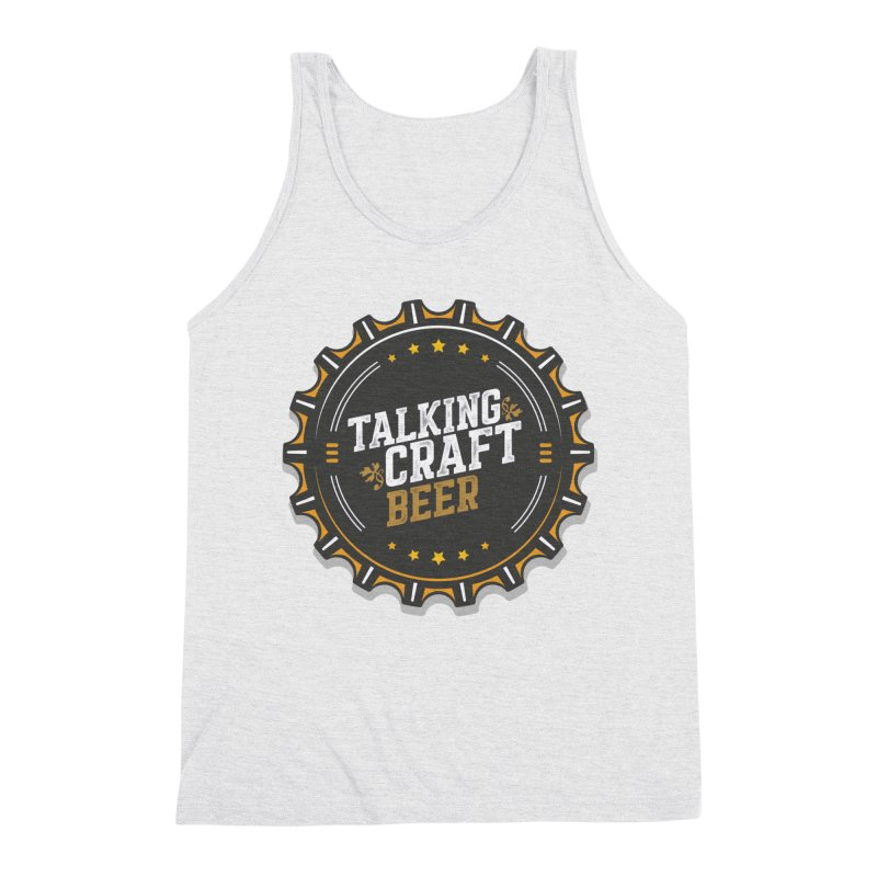 Talking Craft Beer Logo Men's Triblend Tank by Talking Craft Beer Shop