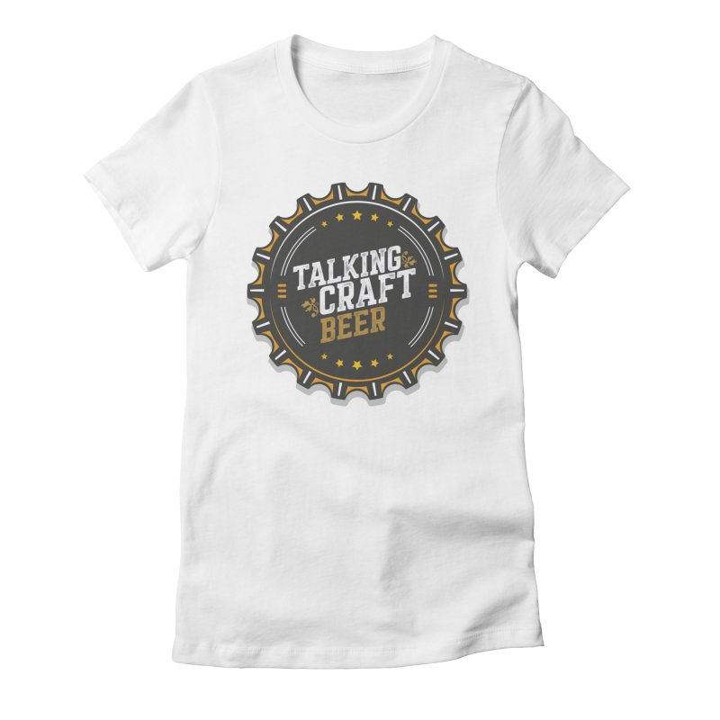 Talking Craft Beer Logo Women's Fitted T-Shirt by Talking Craft Beer Shop