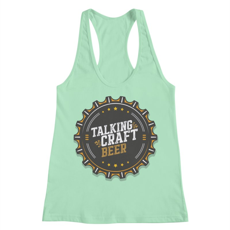 Talking Craft Beer Logo Women's Racerback Tank by Talking Craft Beer Shop