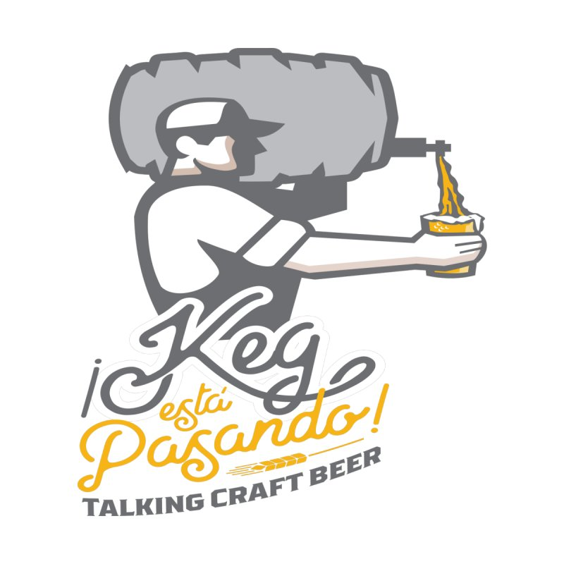 Kept keg Pour Logo Men's V-Neck by Talking Craft Beer Shop