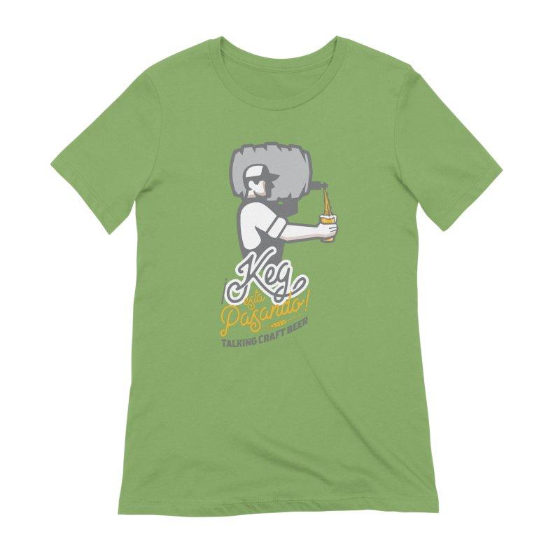 Kept keg Pour Logo Women's Extra Soft T-Shirt by Talking Craft Beer Shop