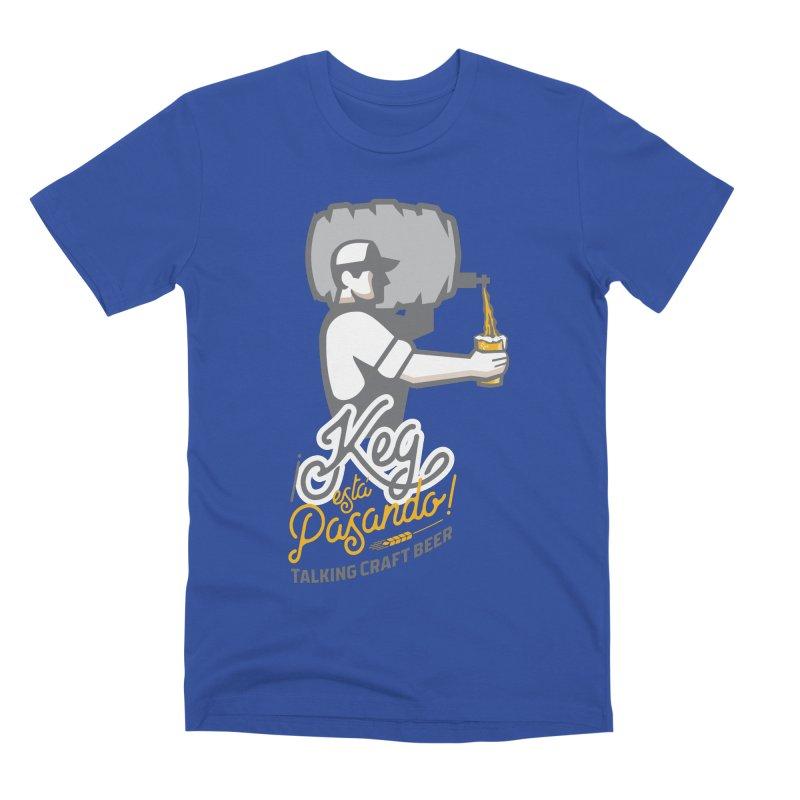 Kept keg Pour Logo Men's Premium T-Shirt by Talking Craft Beer Shop