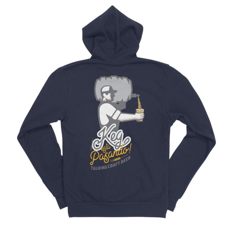 Kept keg Pour Logo Men's Sponge Fleece Zip-Up Hoody by Talking Craft Beer Shop