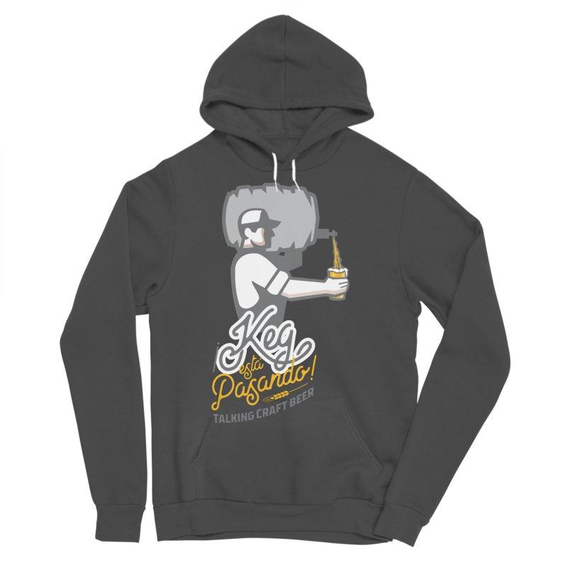 Kept keg Pour Logo Men's Sponge Fleece Pullover Hoody by Talking Craft Beer Shop