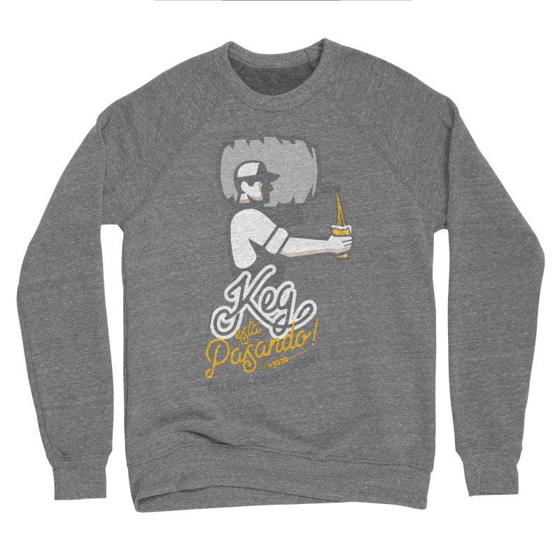 Kept keg Pour Logo Men's Sponge Fleece Sweatshirt by Talking Craft Beer Shop
