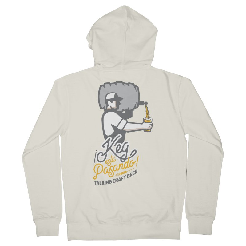 Kept keg Pour Logo Women's French Terry Zip-Up Hoody by Talking Craft Beer Shop
