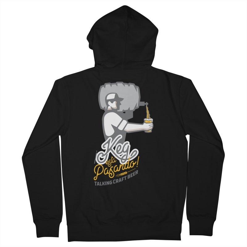 Kept keg Pour Logo Men's French Terry Zip-Up Hoody by Talking Craft Beer Shop