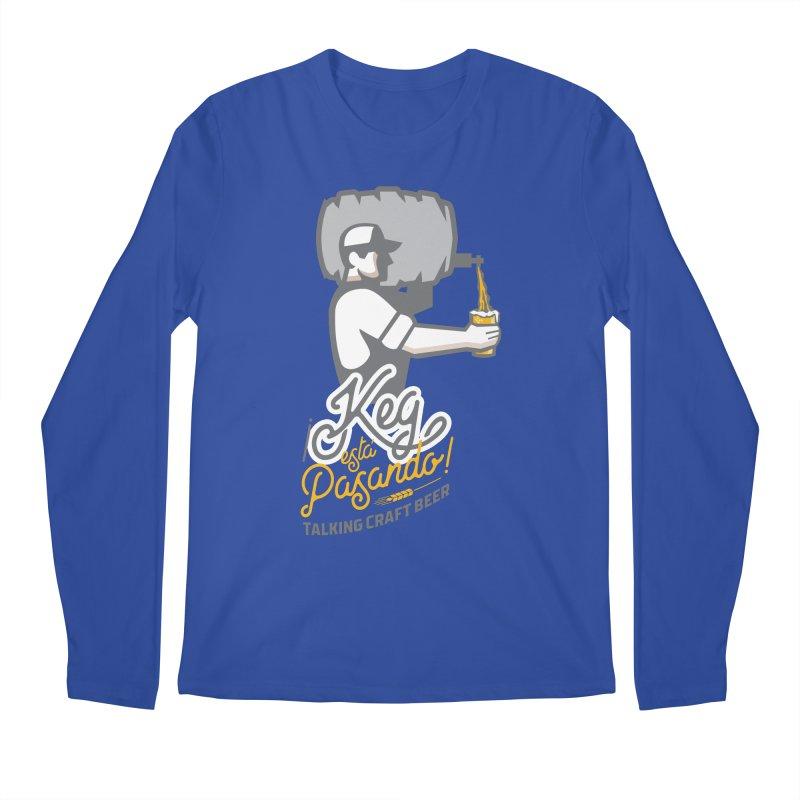 Kept keg Pour Logo Men's Regular Longsleeve T-Shirt by Talking Craft Beer Shop