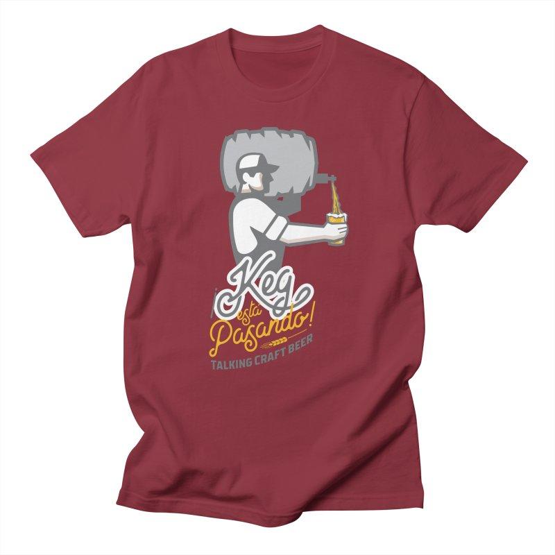 Kept keg Pour Logo Men's Regular T-Shirt by Talking Craft Beer Shop