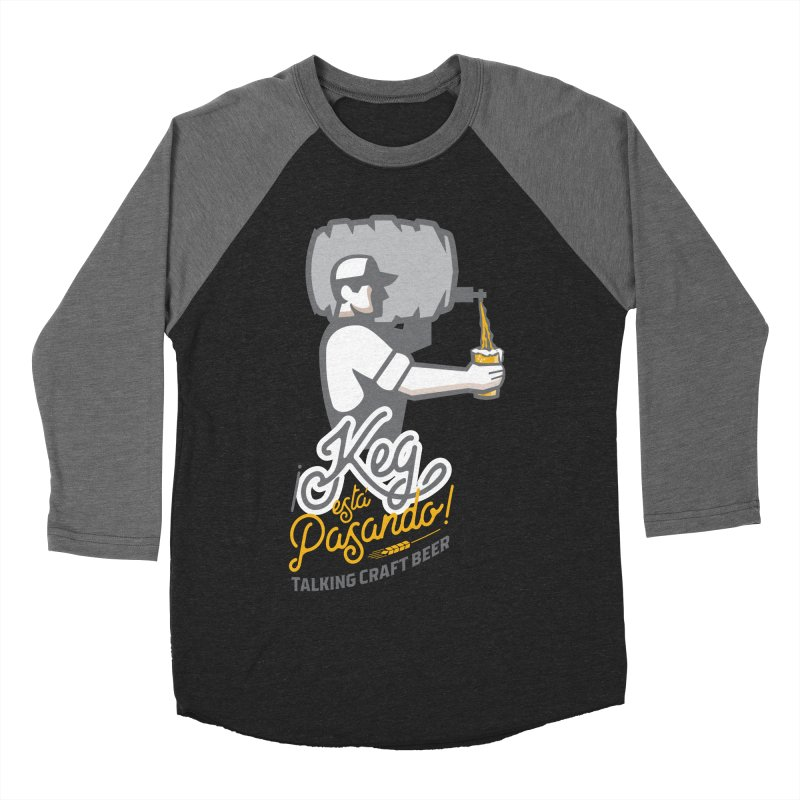 Kept keg Pour Logo Women's Baseball Triblend Longsleeve T-Shirt by Talking Craft Beer Shop