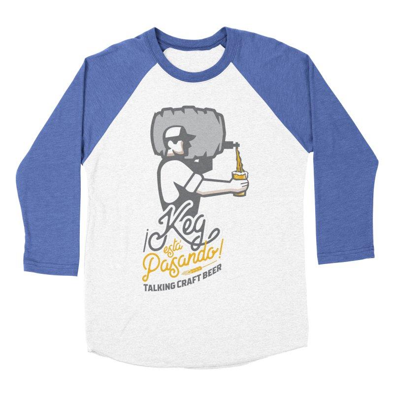 Kept keg Pour Logo Men's Baseball Triblend Longsleeve T-Shirt by Talking Craft Beer Shop