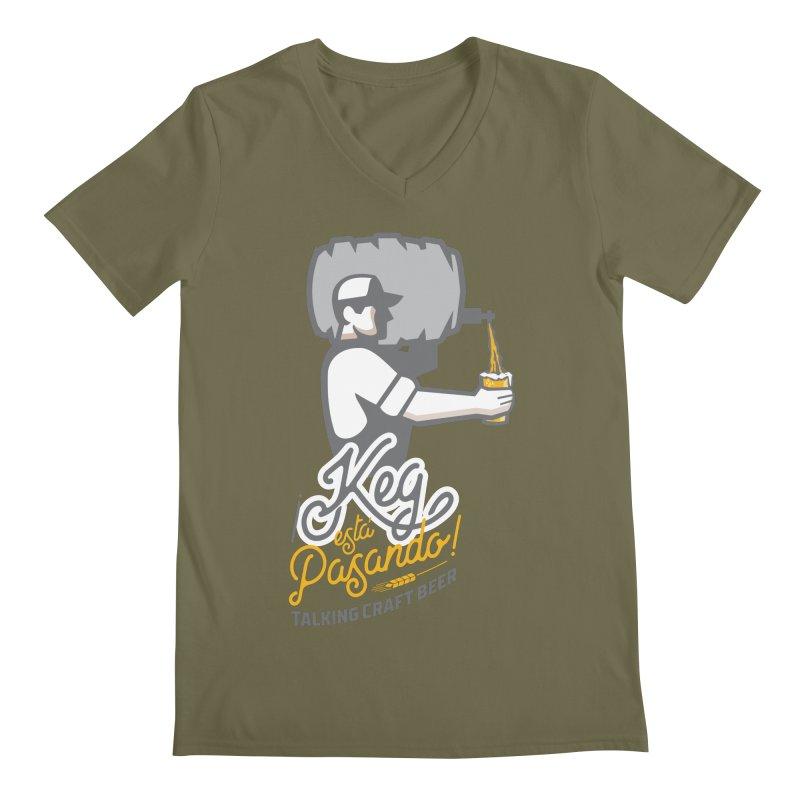 Kept keg Pour Logo Men's Regular V-Neck by Talking Craft Beer Shop
