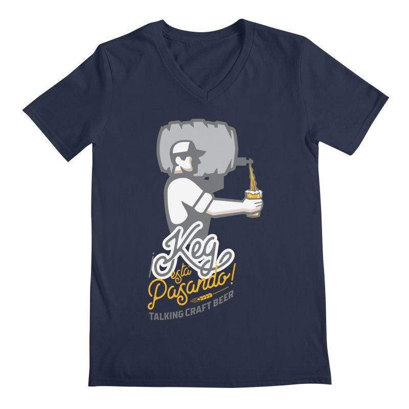 Kept keg Pour Logo Men's V-Neck by Talking Craft Beer Shop