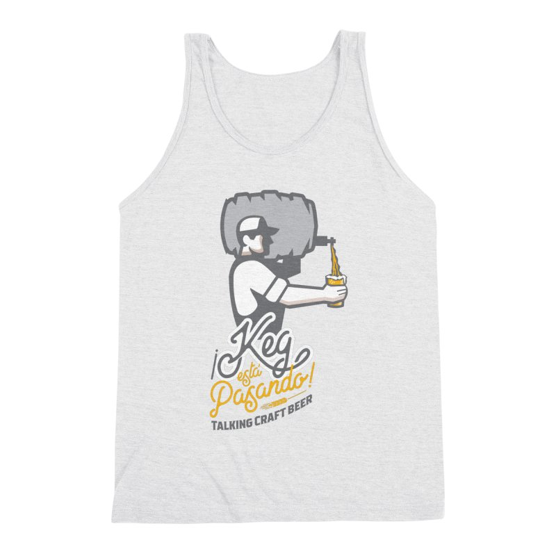 Kept keg Pour Logo Men's Triblend Tank by Talking Craft Beer Shop