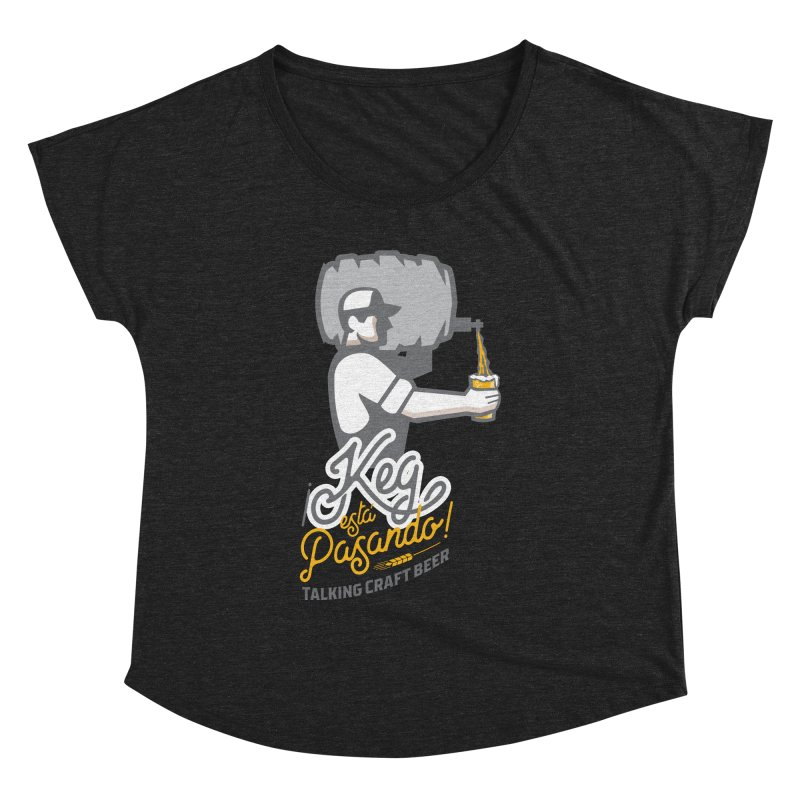 Kept keg Pour Logo Women's Dolman Scoop Neck by Talking Craft Beer Shop