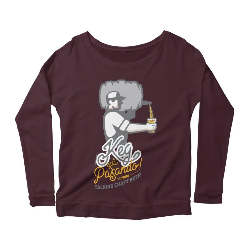 Kept keg Pour Logo Women's Scoop Neck Longsleeve T-Shirt by Talking Craft Beer Shop