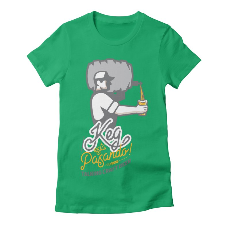 Kept keg Pour Logo Women's Fitted T-Shirt by Talking Craft Beer Shop
