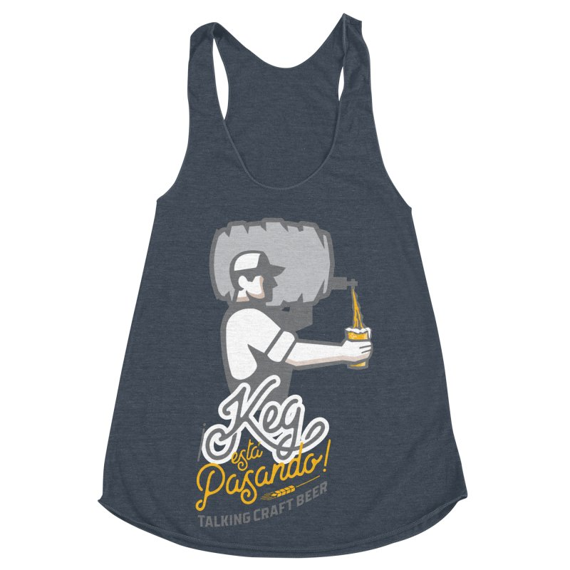 Kept keg Pour Logo Women's Racerback Triblend Tank by Talking Craft Beer Shop