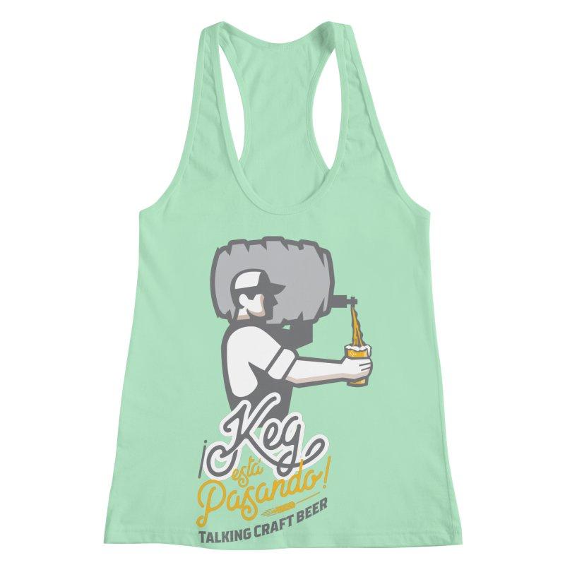 Kept keg Pour Logo Women's Racerback Tank by Talking Craft Beer Shop