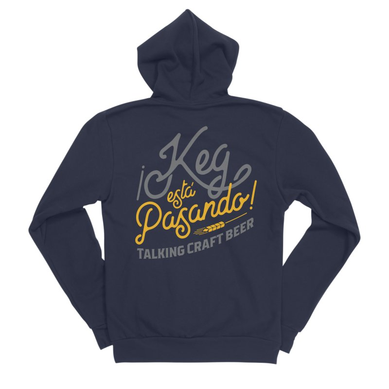 Kept Tagline (Grey) Men's Sponge Fleece Zip-Up Hoody by Talking Craft Beer Shop